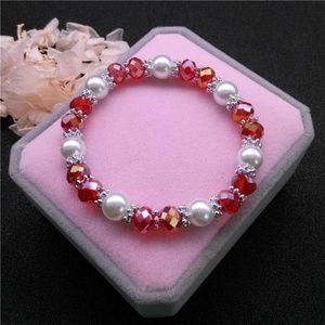 d710a96d5 Jewelry - Crystal Bead & Rhinestone Accent Stretch Bracelet